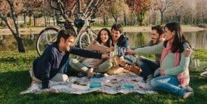 picnic con la bicicleta