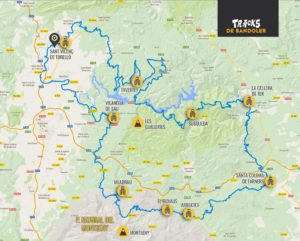 The Bandoler route. Bikefriendly tours- map