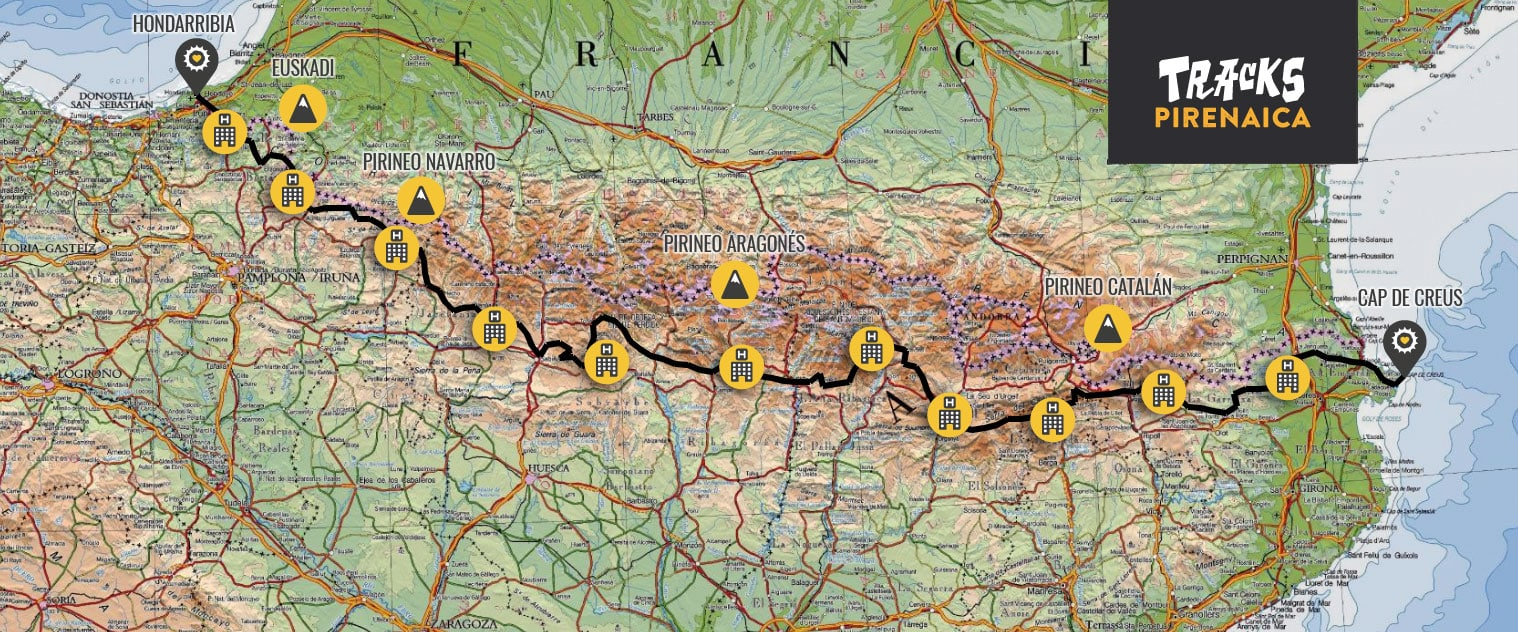 Trans-Pyrenean map