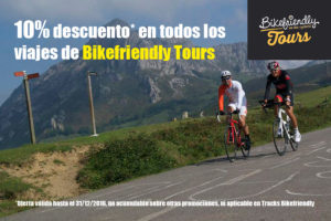 Oferta descuento 10% en viajes Bikefriendly Tours