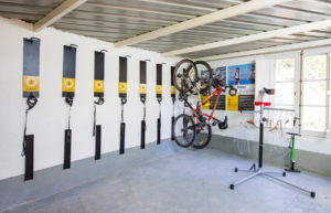 Space for bike storage in Bikefriendly hotels