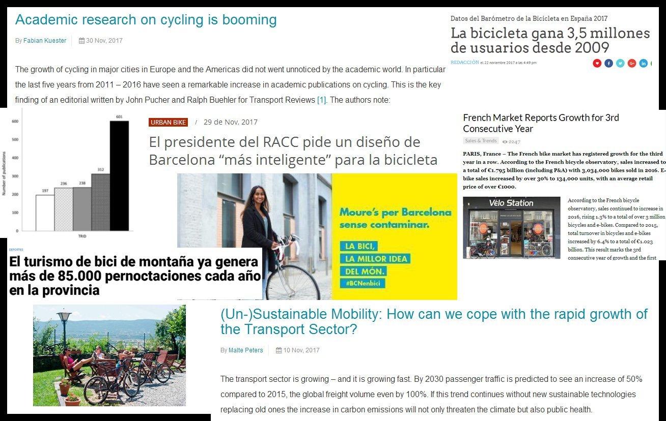 El éxito de la bicicleta en la sociedad actual
