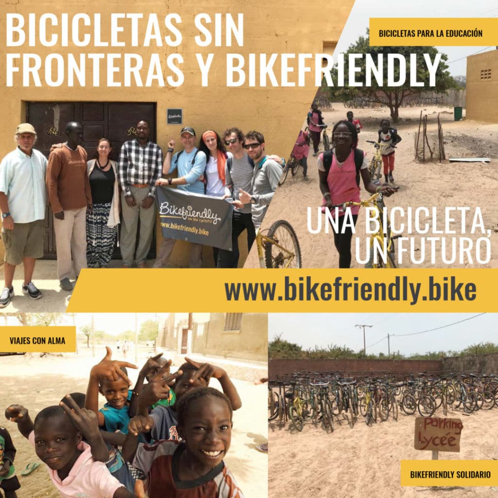 viaje en bici solidario a Senegal de Bikefriendly