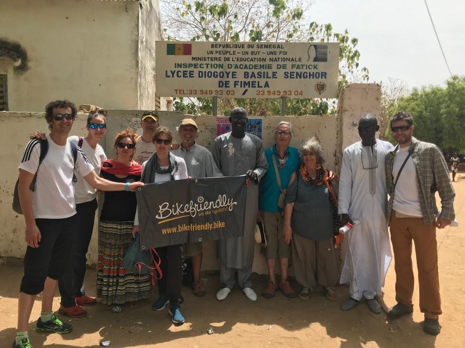 El equipo de Bikefriendly en Senegal