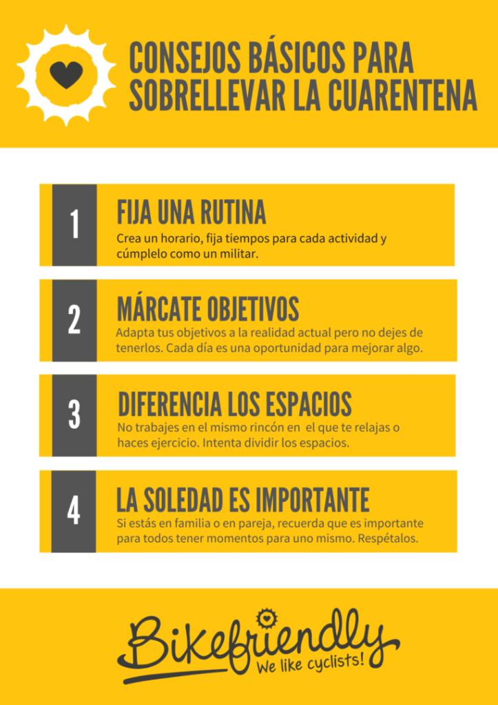Infografía con consejos para llevar la cuarentena por el coronavirus