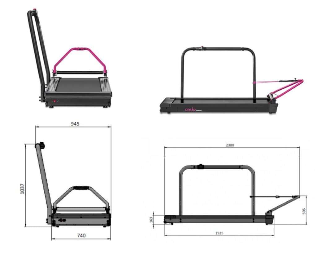 Medidas del rodillo para bicicletas Oreka Training