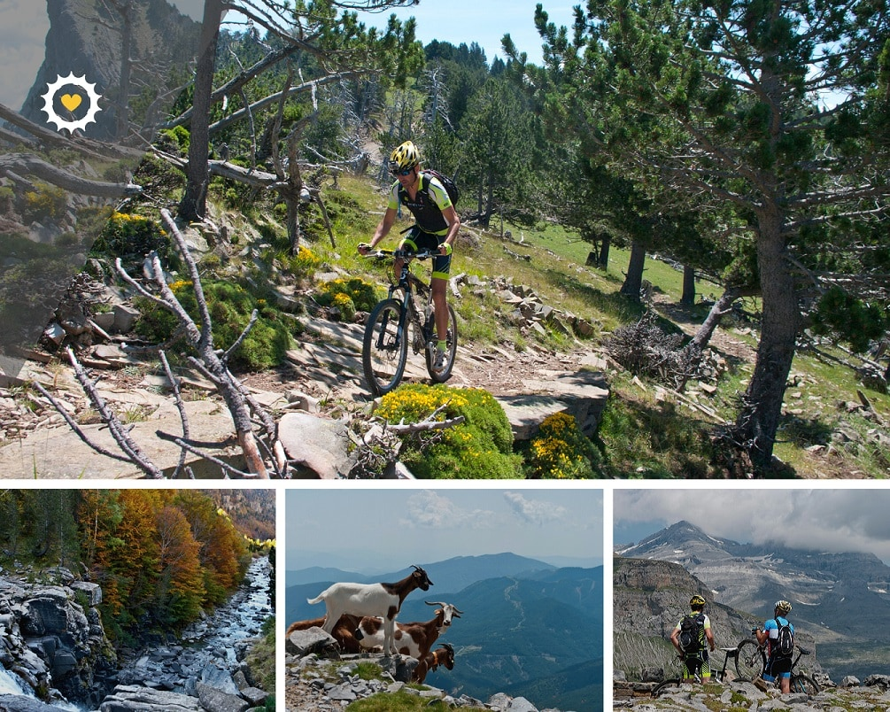 Viaje en bicicleta de montaña en España - Tracks de Ordesa - Pirineo en BTT