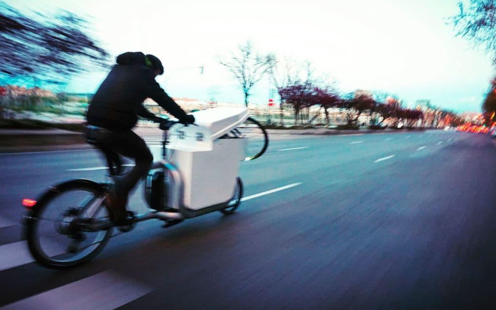 Distribución de mercancías en bici en la ciudad