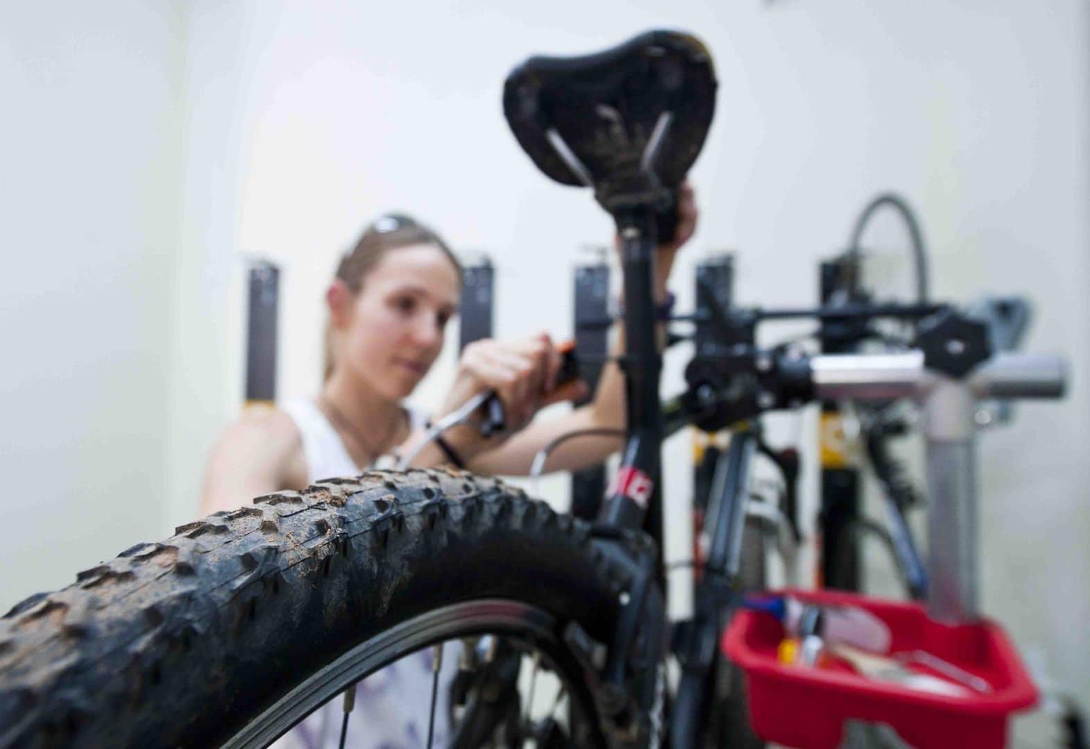 Zona taller en alojamiento Bikefrienldy
