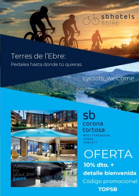 Oferta para ciclistas en el hotel Bikefriendly SB Corona Tortosa